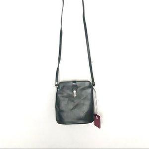 Vera Pelle Crossbody Black Leather Bag